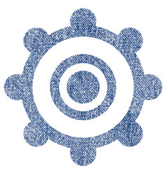 Cog wheel fabric textured icon vector