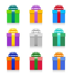 colorful gift box set vector image