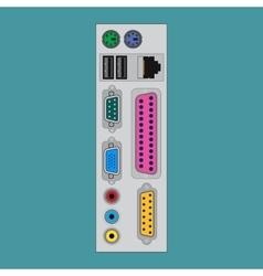 Connectors computer unit vector