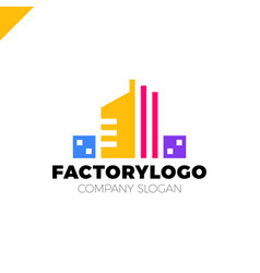 Construction firm factory or manifacture logo or vector