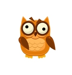 Crazy brown owl vector