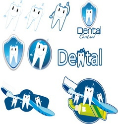 dentist control vector image