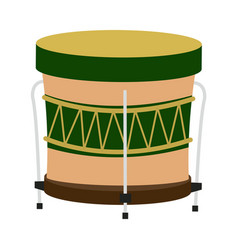 drum instrument of brazil musical vector image