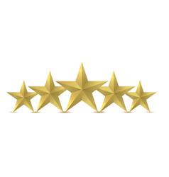 Five golden star vector