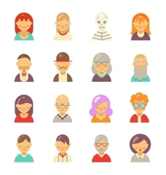 Flat people icons for app user avatar face Man vector image vector image