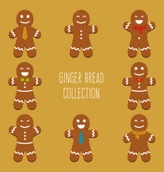 Ginger bread collection vector