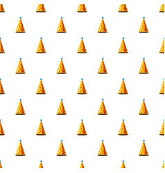 Gold party hat pattern vector