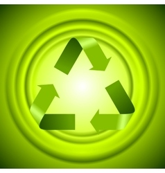 Green recycle logo sign with smooth circles vector image