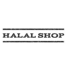 Halal shop watermark stamp vector