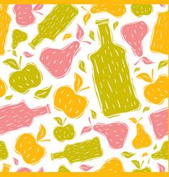 Hard cider seamless pattern vector