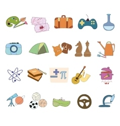 Hobby Icons set vector image