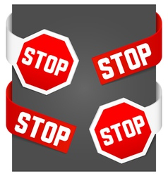 left and right side signs - stop vector image