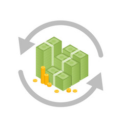 Money exchange and conversion concept vector