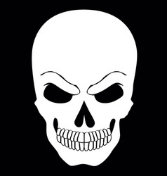 simple web icon in skull black and white vector image vector image