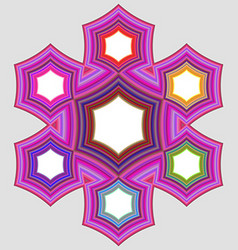 Six part circular infographic element design vector