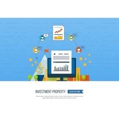 Smart investment finance banking management vector image