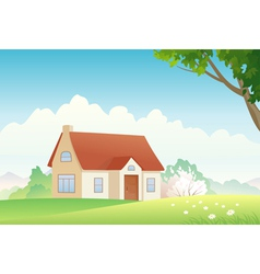 Spring house vector image vector image