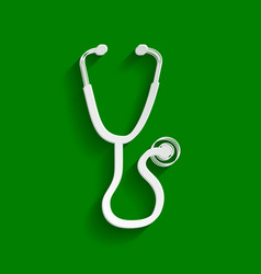 stethoscope sign paper vector image