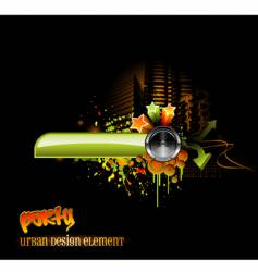 Urban party design vector