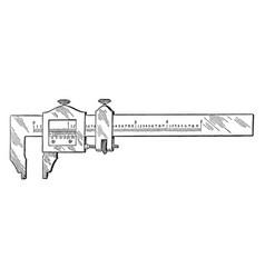 Vernier caliper vintage vector
