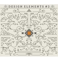 Vintage Ornaments Decorations Design Elements 2 vector image vector image