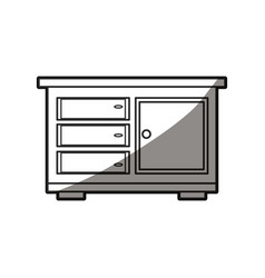wooden table furniture cabinet design vector image