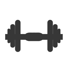 Single dumbell icon vector