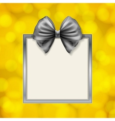 Bow and square box frame vector