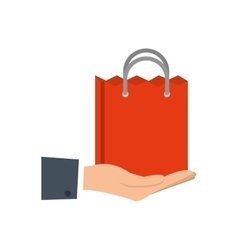 Shopping bag commerce market icon vector