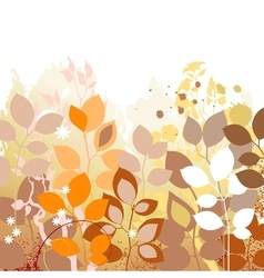 Fall leaves background Autumn in foliage colors vector image