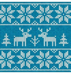 Blue sweater with deer vector image