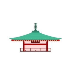 Japanese temple isolated pagoda tower vector