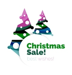 Christmas sale greeting card or banner vector