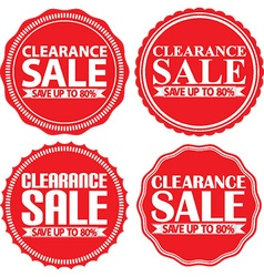 Clearance sale save up to 80r red label set vector