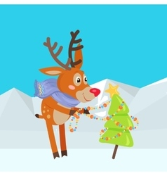Christmas tree decoration cartoon vector