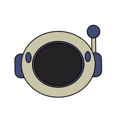 Helmet astronaut space security vector
