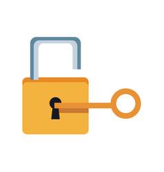 Lock and key sign unlocking access password vector
