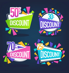 Collection of bright discount bubble tags banners vector