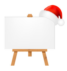 Banner with santa claus cap vector