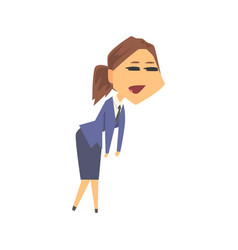 Young businesswoman character in formal wear vector