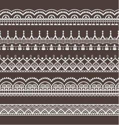 Lace ornaments borders vector image