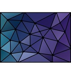 triagles blue black vector image