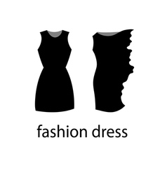 Black fashion dress sign vector
