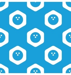 Bowling hexagon pattern vector