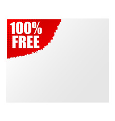 Sign 100 free vector