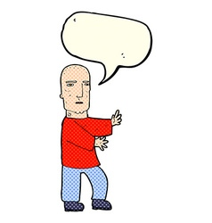 Cartoon tough man with speech bubble vector