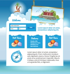 Travel web site vector