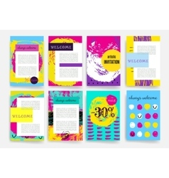 Hand drawn templates design set of web mail vector