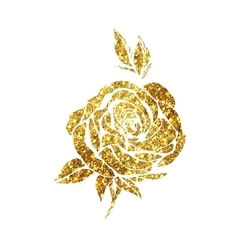 Glowing golden rose vector