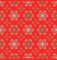 abstract seamless pattern on red orange and brown vector image